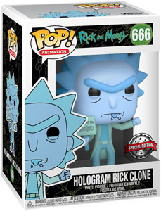 RICK ET MORTY FIGURINE POP! ANIMATION VINYL HOLOGRAM RICK CLONE