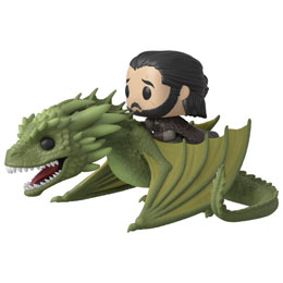 GAME OF THRONES POP! RIDES VINYL FIGURINE JON SNOW & RHAEGAL