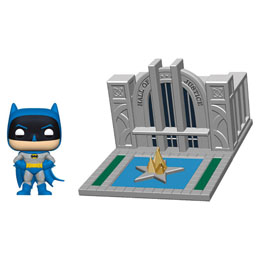 BATMAN 80TH POP! TOWN VINYL FIGURINE BATMAN & HALL OF JUSTICE 9 CM