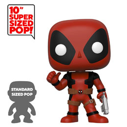 DEADPOOL SUPER SIZED POP! THUMB UP RED DEADPOOL 25 CM