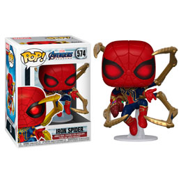 AVENGERS ENDGAME POP! MOVIES VINYL FIGURINE IRON SPIDER WITH NANO GAUNTLET
