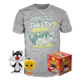LOONEY TUNES POP! & TEE SET FIGURINE ET T-SHIRT SYLVESTER & TWEETY