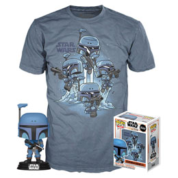 STAR WARS THE MANDALORIAN POP! & TEE SET FIGURINE ET T-SHIRT THE MANDALORIAN