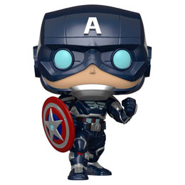 FUNKO POP MARVEL AVENGERS GAME CAPTAIN AMERICA STARK TECH SUIT