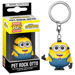 PORTE-CLÉS POCKET POP! MINIONS II PET ROCK OTTO