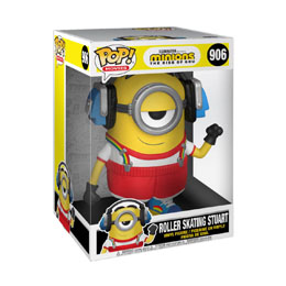 MINIONS 2 SUPER SIZED POP! MOVIES FIGURINE ROLLER SKATING STUART 25 CM