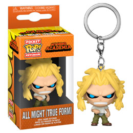 MY HERO ACADEMIA PORTE-CLÉS POCKET POP! VINYL ALL MIGHT WEAKENED STATE
