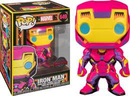 FUNKO POP! MARVEL BLACK LIGHT IRON MAN EXCLUSIVE