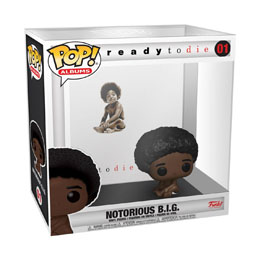 FIGURINE FUNKO POP NOTORIOUS B.I.G. ALBUMS BIGGIE WITH CASE 9 CM