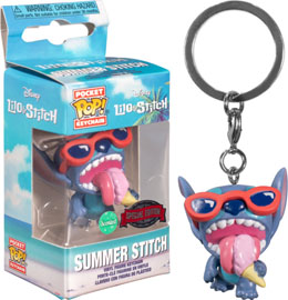 PORTE CLÉ POCKET POP LILO AND STITCH SUMMER STITCH EXCLUSIVE