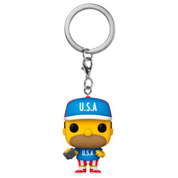 PORTE-CLÉ FUNKO POCKET POP SIMPSONS USA HOMER