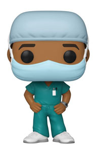 FRONT LINE WORKER POP! HEROES VINYL FIGURINE MALE #2