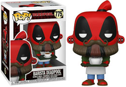 FUNKO POP MARVEL DEADPOOL 30TH ANNIVERSARY FIGURINE COFFEE BARISTA DEADPOOL