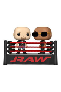 WWE pack 2 POP Moment! Vinyl figurines The Rock vs Stone Cold in Wrestling Ring
