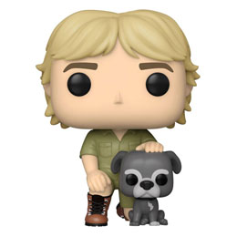 THE CROCODILE HUNTER POP! TV VINYL FIGURINE STEVE IRWIN W/SUI 9 CM