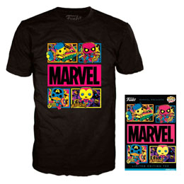 T-SHIRT FUNKO MARVEL BLACK LIGHT EDITION LIMITÉE