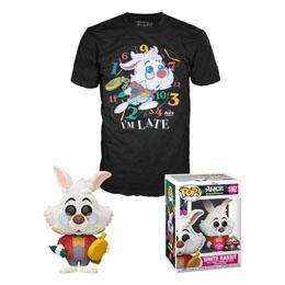 Alice au pays des merveilles POP! & Tee set figurine et T-Shirt White Rabbit
