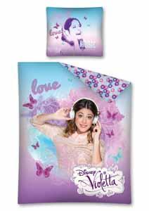 Parure de lit Disney Violetta 1 personne 140 x 200 cm