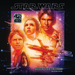 CALENDRIER STAR WARS 40TH ANNIVERSARY 2018 (ANGLAIS)