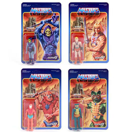 4 FIGURINES MASTERS OF THE UNIVERSE REACTION WAVE 1