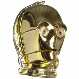CASQUE STAR WARS C-3PO ECHELLE 1/5