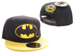 BATMAN CASQUETTE BASEBALL BLACK BAT LOGO BLACK