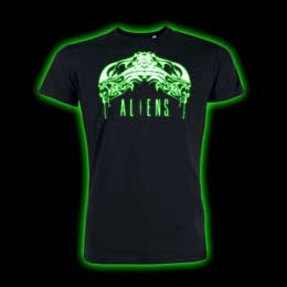 T SHIRT ALIEN TRIBAL GLOW IN THE DARK