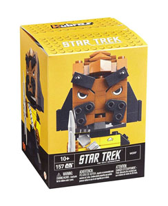 Photo du produit  JEU DE CONSTRUCTION STAR TREK TNG MEGA BLOKS KUBROS WORF 14 CM Photo 1