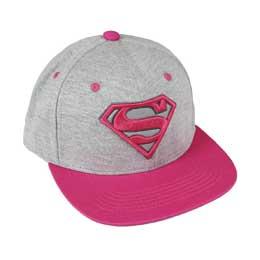 DC COMICS CASQUETTE PREMIUM PINK SUPERMAN LOGO