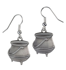 HARRY POTTER BOUCLES D´OREILLE PLAQUE ARGENT POTION CAULDRON