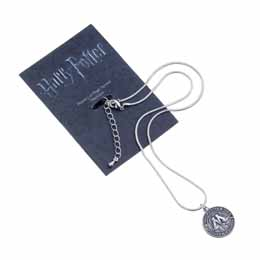 HARRY POTTER PENDENTIF ET COLLIER PLAQUE ARGENT MINISTRY OF MAGIC