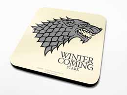 PACK 6 SOUS-VERRES GAME OF THRONES STARK
