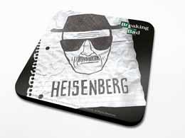 SET DE 6 SOUS VERRE BREAKING BAD HEISENBERG PAPER