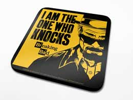 SET DE 6 SOUS VERRES BREAKING BAD I AM THE ONE WHO KNOCKS