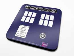 SET DE 6 SOUS VERRES DOCTOR WHO TARDIS