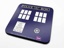 SET DE 6 SOUS VERRES DOCTOR WHO TARDIS