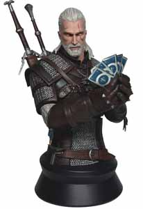 WITCHER 3 WILD HUNT BUSTE GERALT PLAYING GWENT 23 CM