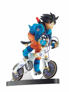 DRAGON BALL Z DESKTOP REAL MCCOY VOL 2 F SON GOKU BIKE BLEU ET BLANC