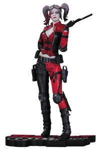 DC COMICS RED, WHITE & BLACK STATUETTE HARLEY QUINN (INJUSTICE 2) 20 CM