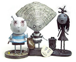 PACK 3 FIGURINES TIM BURTON SET #3 OYSTER BOY 10 CM