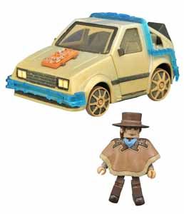 RETOUR VERS LE FUTUR 3 MINIMATES VEHICULE RAIL READY TIME MACHINE