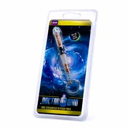 DOCTOR WHO 11TH DOCTOR MINI SONIC SCREWDRIVER KEYCHAIN LED