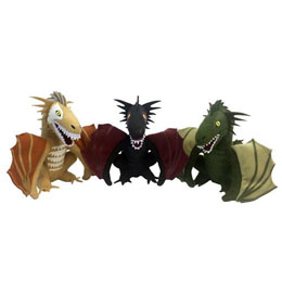 LE TRONE DE FER SET PELUCHES DRAGONS 2017 SDCC CONVENTION EXCLUSIVE