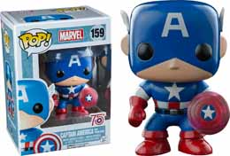 MARVEL COMICS FUNKO POP CAPTAIN AMERICA PHOTON SHIELD 75TH ANNIVERSARY LIMITED