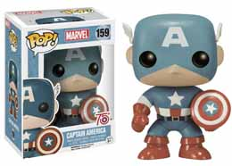 MARVEL COMICS FUNKO POP CAPTAIN AMERICA SEPIA TONED 75TH ANNIVERSARY LIMITED