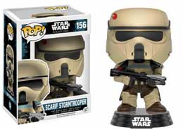 FIGURINE FUNKO POP STAR WARS ROGUE ONE BOBBLE HEAD SCARIF STORMTROOPER (BLUE STRIPE)