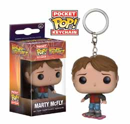PORTE CLE RETOUR VERS LE FUTUR II POCKET POP! MARTY MCFLY ON HOVERBOARD