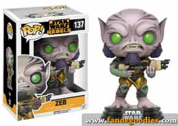 FUNKO POP STAR WARS REBELS ZEB