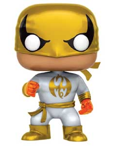 FIGURINE FUNKO POP MARVEL IRON FIST (WHITE & GOLD)
