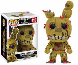 FIVE NIGHTS AT FREDDY'S FUNKO POP FLOCKED SPRINGTRAP